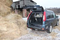 У Nissan X-Trail вместительный багажник